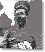 Pancho Villa  Portrait In Military Uniform No Location Or Date-2013 Metal Print