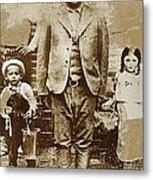 Pancho Villa  Portrait With Children No Location Or Date-2013 Metal Print