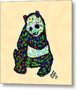 Panda A La Fauvism Metal Print