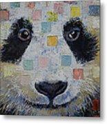 Panda Checkers Metal Print