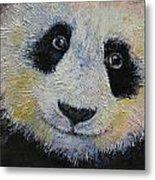 Panda Smile Metal Print