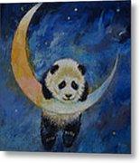 Panda Stars Metal Print