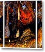 Panels Of A Cave Metal Print