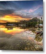 Panglao Port Sunset Metal Print