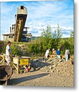 Panning For Gold In Chicken-ak- Metal Print