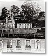 Panorama Alcatraz Infamous Inmates Black And White Metal Print