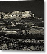 Panorama Bryce Canyon Storm In Black And White Metal Print