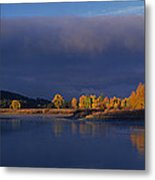 Panorama Clearing Storm Oxbow Bend Grand Tetons National Park Wyoming Metal Print