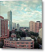 Panorama-dt-toronto Looking East Metal Print