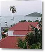 Panorama Of Charlotte Amalie Bay Metal Print by Russell Windle