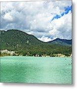 Panorama Of Green Lake, Whistler Metal Print