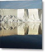 Panorama Of Iceberg Ross Sea Antarctica Metal Print
