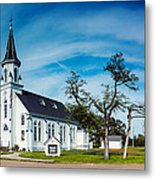 Panorama Of Sts. Cyril And Methodius Catholic Church - Dubina Texas Metal Print