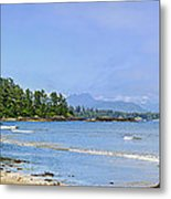 Panorama Of Pacific Coast On Vancouver Island Metal Print by Elena Elisseeva