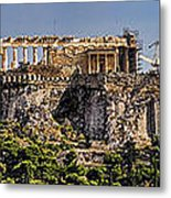 Panorama Of The Acropolis In Athens Metal Print