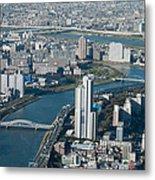 Panorama Of Tokyo Metal Print