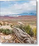 Panorama Point - La Sal Mountains - Arches National Park - Ut Metal Print