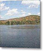 Panorama Red House Lake Allegany State Park Metal Print