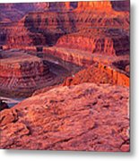Panorama Sunrise At Dead Horse Point Utah Metal Print
