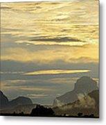 Panorama Sunset Aparaman And Towyen Tepuis Kavak Venezuela Metal Print