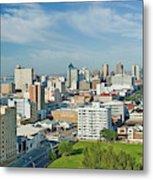 Panoramic Aerial View Of Durban, South Metal Print