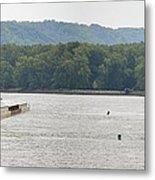 Panoramic Barge Metal Print