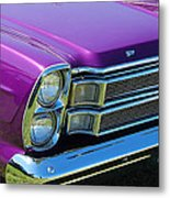 panoramic Ford Galaxie Metal Print