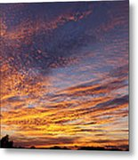 Panoramic Hill Country Sunset Metal Print