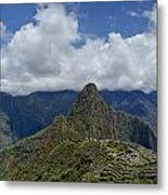 Panoramic Machu Picchu Metal Print