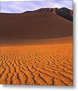 Panoramic Mesquite Sand Dune Patterns Death Valley National Park Metal Print