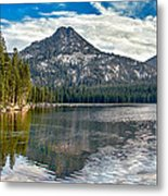 Panoramic Of Anthony Lake Metal Print