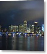 Panoramic Of Miami Florida Metal Print