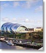 Panoramic Of Newcastle And Gateshead Quayside Metal Print