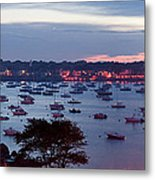 Panoramic Of The Marblehead Illumination Metal Print by Jeff Folger