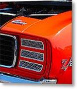 panoramic orange Z28 Camaro Metal Print