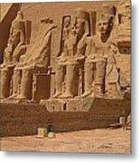 Panoramic Photograph Of Famous Egyptian Monument Metal Print