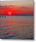 Panoramic Summer Sunset Metal Print