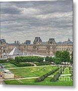 Panoramic View Musee Du Louvre Metal Print