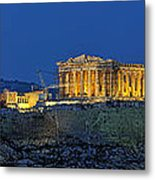 Panoramic View Of Acropolis Of Athens Metal Print