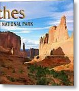 Panoramic View Of Arches National Park  Metal Print