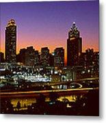 Panoramic View Of Atlanta Skyline Metal Print