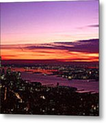 Panoramic View Of Empire State Metal Print