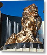 Panoramic View Of Mgm Lion And Mgm Metal Print