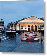 Panoramic View Of Moscow Manege Square And And Central Exhibition Hall - Featured 3 Metal Print