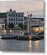 Panoramic View Of Spetses Town Metal Print