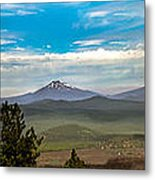 Panoramic View Of The Cascades Metal Print