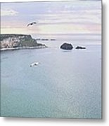 Panoramic View Of The North Coast Of Northern Ireland Metal Print