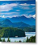 Panoramic View Of Tofino Vancouver Island Canada Metal Print