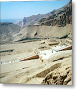 Panoramic View Over Hatschepsut Temple Metal Print