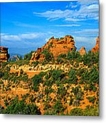 Panoramic View, Sedona, Arizona Metal Print